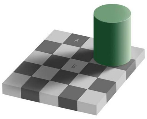 Color perception in an optical illusion