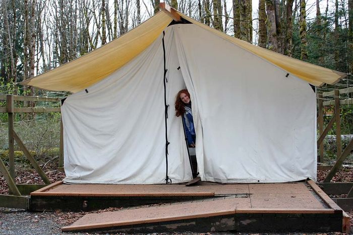 Our trip to the olympic peninsula for Canvas platform tents