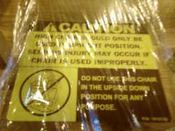 Highchair warning
