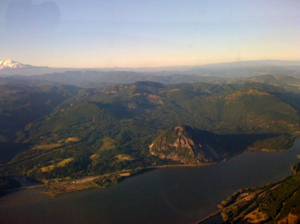 Flying to the Bonneville Dam