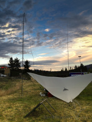 As the sun sets the fun begins. Radio propagation is better at night.