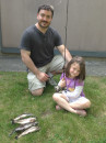 Daddy and Siena displaying our catch