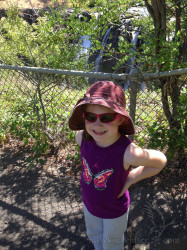 My daughter posing at the trailhead