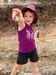 Little S proudly displaying her find